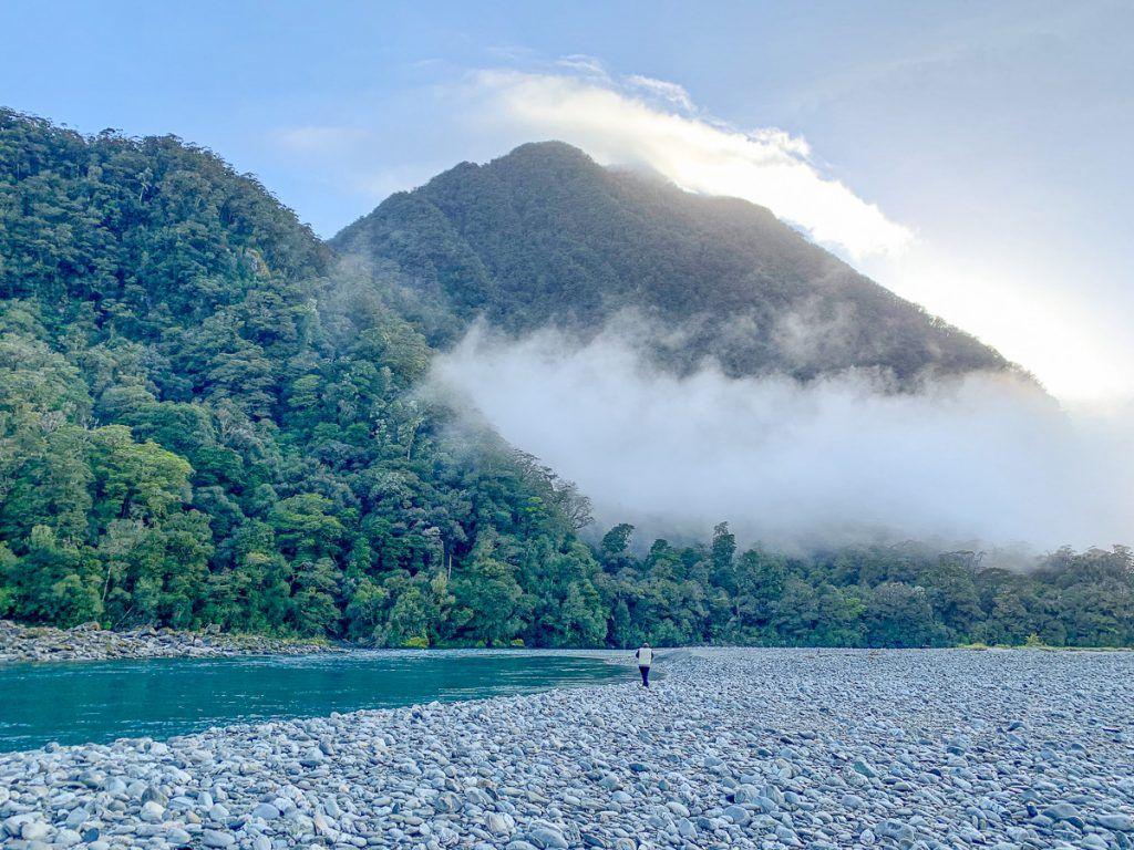 Etapa 7 por NZ desde Haast a Wanaka: Roaring Billy Falls - curiosidades de Nueva Zelanda