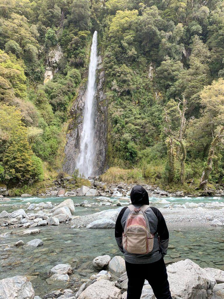 Etapa 7 por NZ desde Haast a Wanaka: Thunder Creek Falls