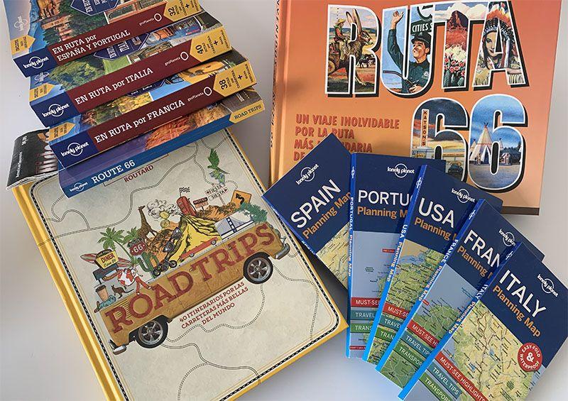 Libros sobre las mejores rutas en coche del mundo