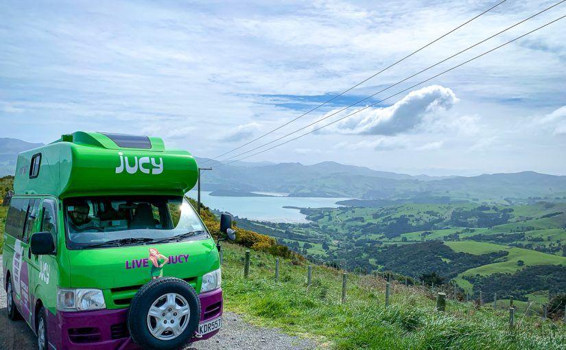 Etapa 13 por NZ por Akaroa y Christchurch: Península de Banks - alquilar una camper en Nueva Zelanda: nuestra Jucy Chaser