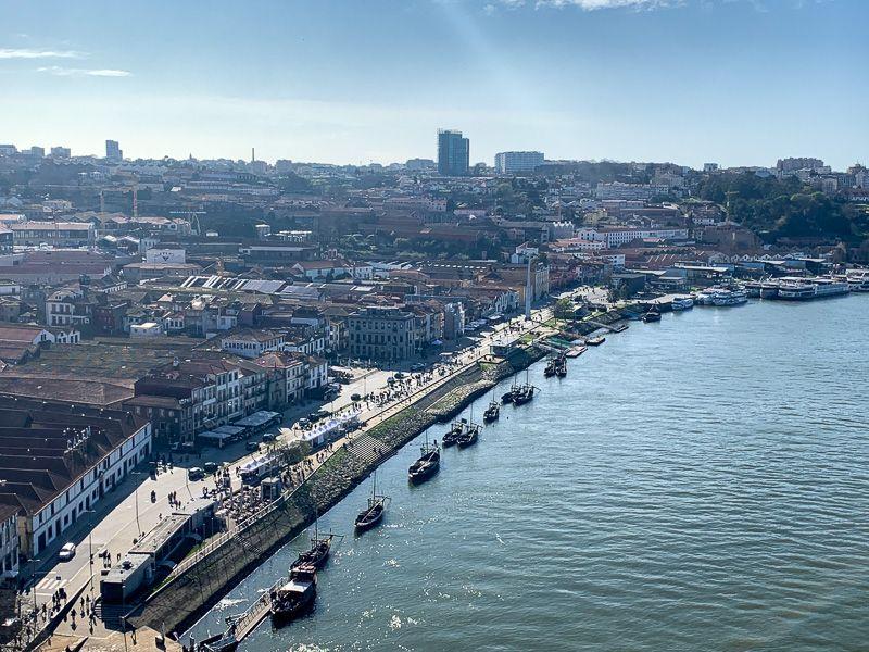 Qué ver en Oporto: cais de Gaia desde la parte alta del Ponte Dom Luis I