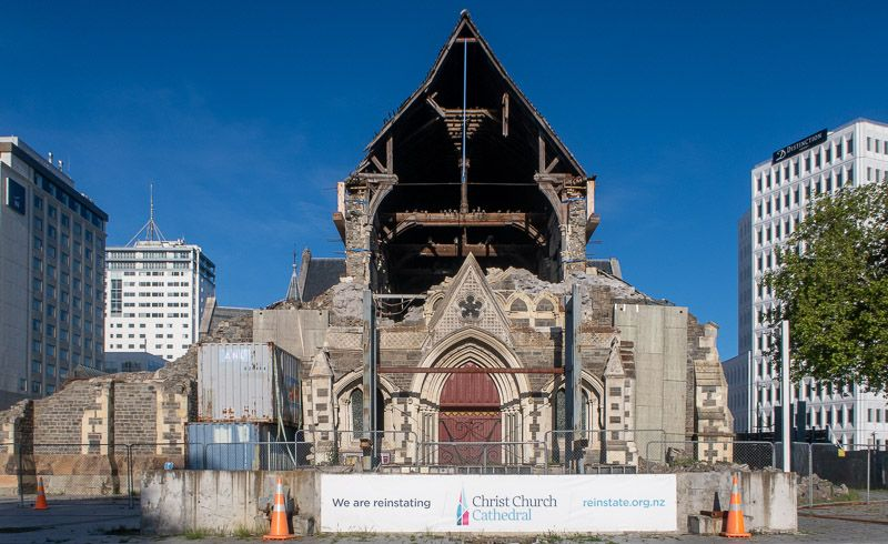 Etapa 13 por NZ por Akaroa y Christchurch: catedral de Christchurch