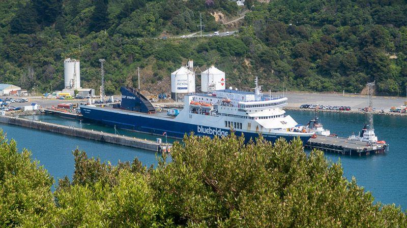 Etapa 15 por NZ de Kaikoura a Wellington: vistas del ferry desde el mirador