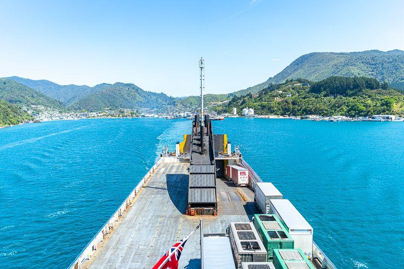 Etapa 15 por NZ de Kaikoura a Wellington: ferry de vuelta a la isla norte