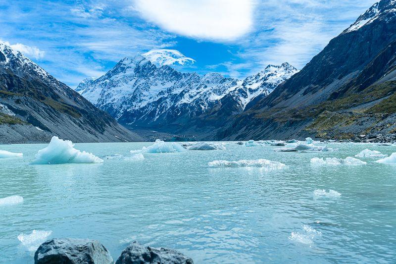 Etapa 12 por NZ por el Monte Cook y Glaciar Tasman: Hooker Valley Track