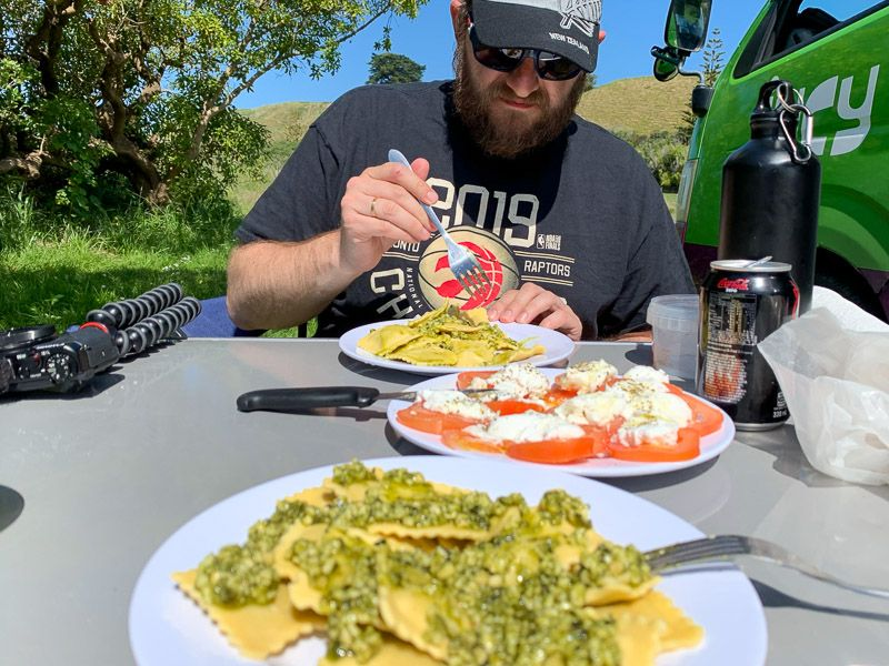 Etapa 14 por NZ de Christchurch a Kaikoura: comida en Kaikoura