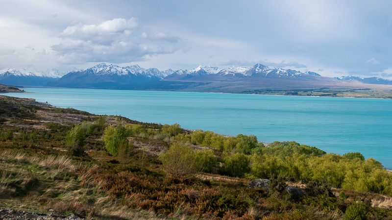 Etapa 12 por NZ por el Monte Cook y Glaciar Tasman: lago Pukaki