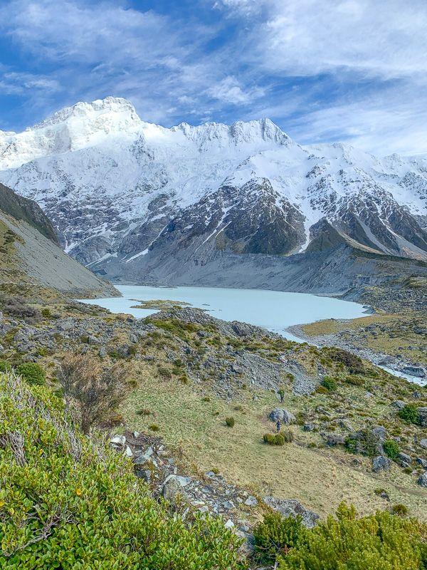 Etapa 12 por NZ por el Monte Cook y Glaciar Tasman: Lake Mueller