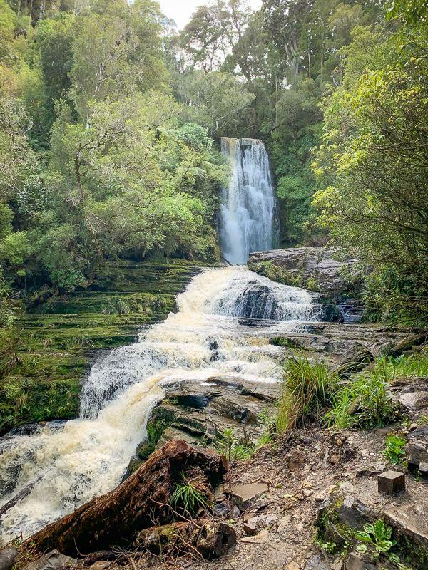 Etapa 11 por NZ desde Slope Point a Nugget Point y el Monte Cook: McLean Falls