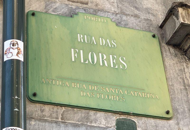Qué ver en Oporto: rua das Flores