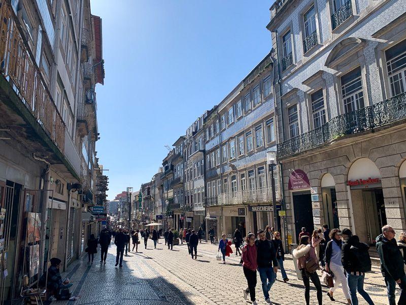 Qué ver en Oporto: rua Santa Catarina