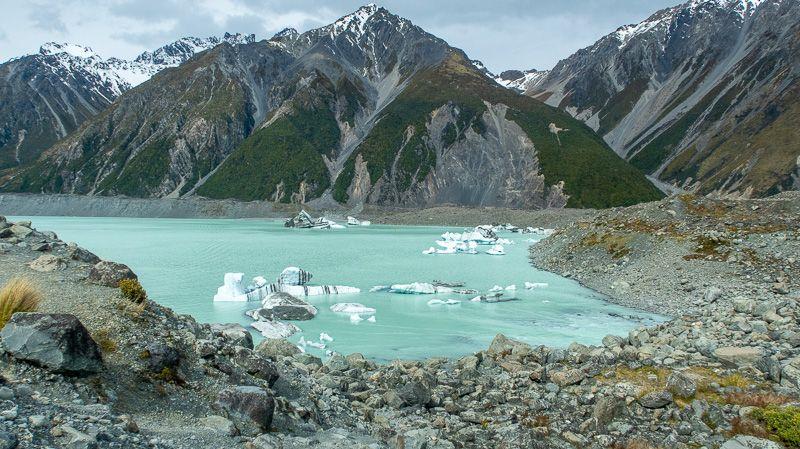 Etapa 12 por NZ por el Monte Cook y Glaciar Tasman: Tasman Lake