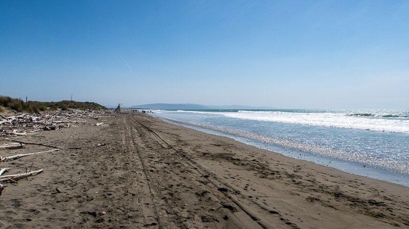 Etapa 14 por NZ de Christchurch a Kaikoura: Waikuku Beach