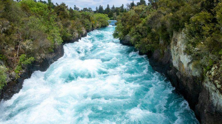 Etapa 18 por NZ entre Taupo y Rotorua: Huka Falls - consejos para viajar a nueva zelanda