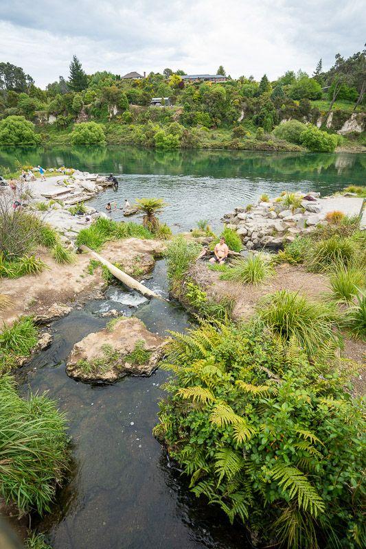 Qué hacer en Taupo: pasear por el Spa Thermal Park