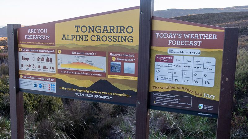 Tongariro Alpine Crossing: inicio de la ruta