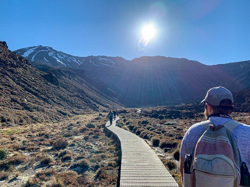 Tongariro Alpine Crossing: primer tramo de la ruta
