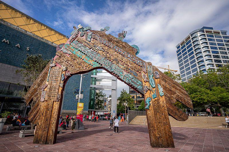 Qué hacer en Auckland: disfrutar del ambiente en Aotea Square