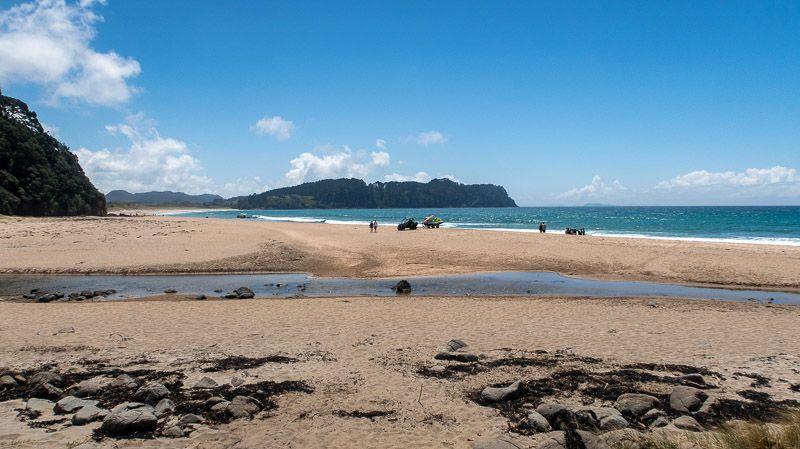 Etapa 20 por NZ en la península de Coromandel: Hot Water Beach