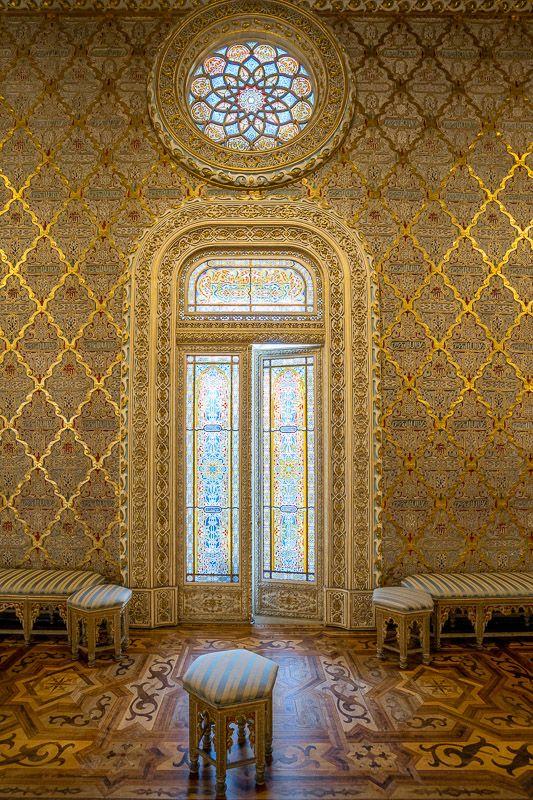 Visitar el Palacio de la Bolsa en Oporto: sala árabe