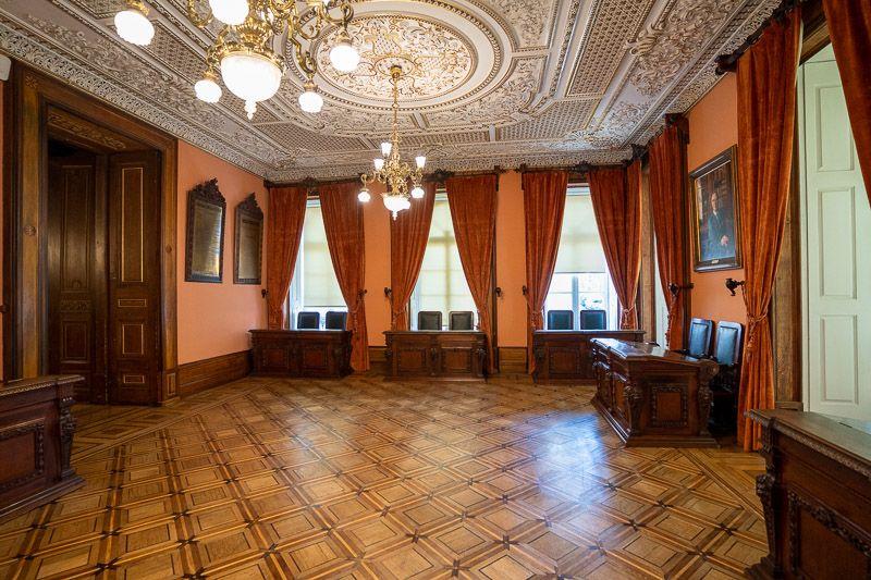 Visitar el Palacio de la Bolsa en Oporto: sala de los presidentes