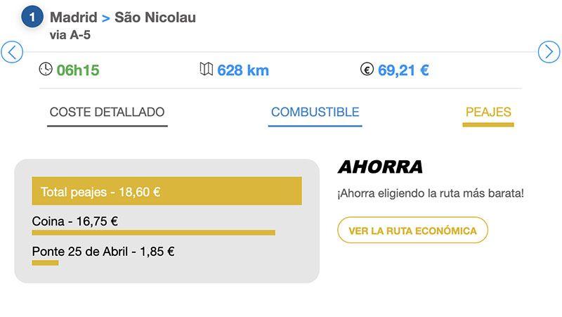 Cómo pagar los peajes en Portugal: Via Michelín