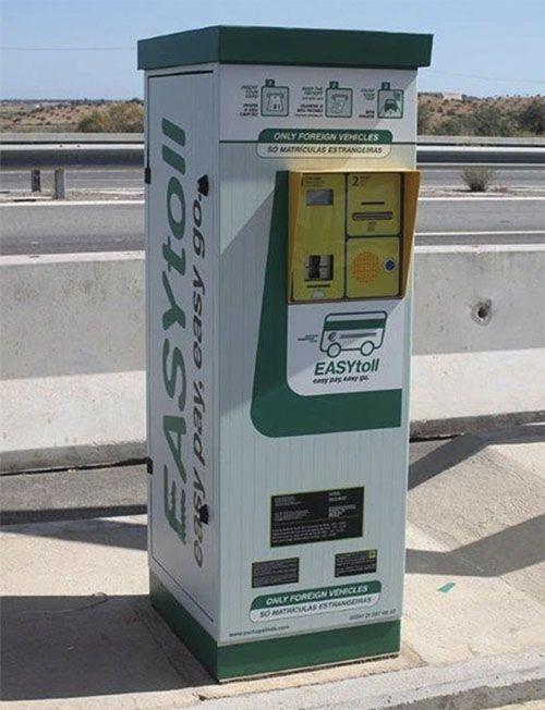 Cómo pagar los peajes en Portugal: Máquina de EASYToll