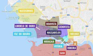 Barrios de Oporto [MAPAS + QUÉ VER + ITINERARIOS]