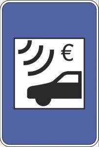 Cómo pagar los peajes en Portugal: Señal que indica que la carretera es de peaje electrónico