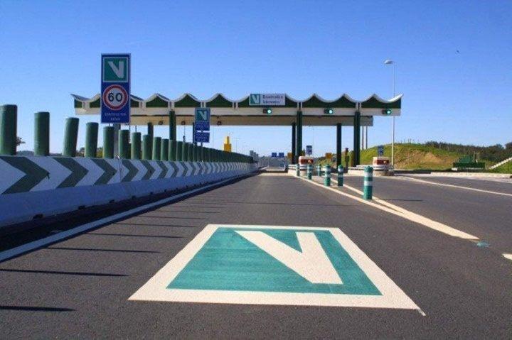 Cómo pagar los peajes en Portugal: Carril de Via Verde