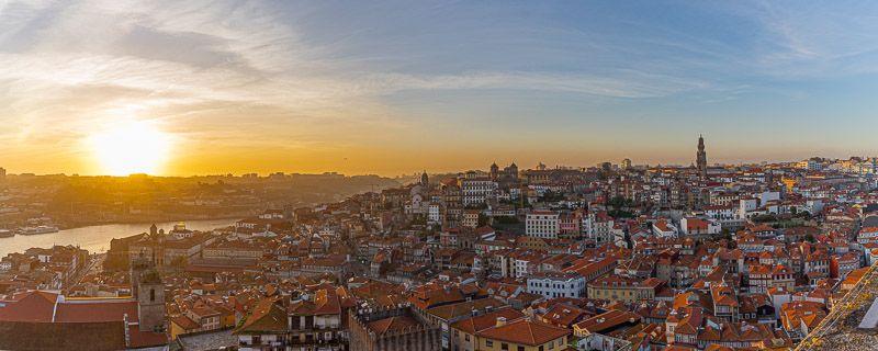 Miradores de Oporto: torre de la catedral