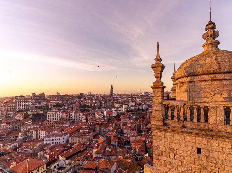 Miradores de Oporto: torre de la catedral - Qué ver en Oporto: Sé do Porto - Las 10 ciudades más importantes de Portugal
