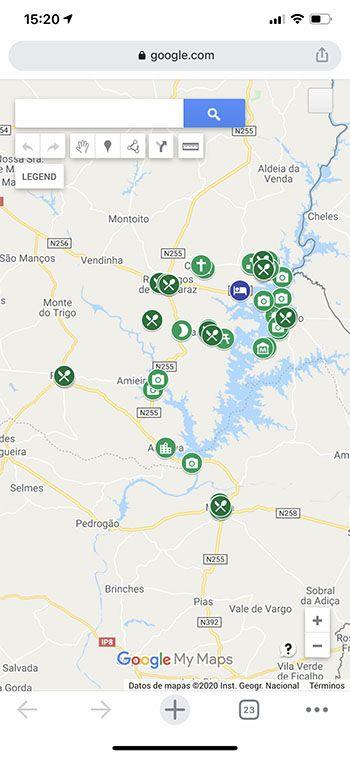 Cómo usar los mapas de Comiviajeros: así se ven los mapas desde el navegador del móvil