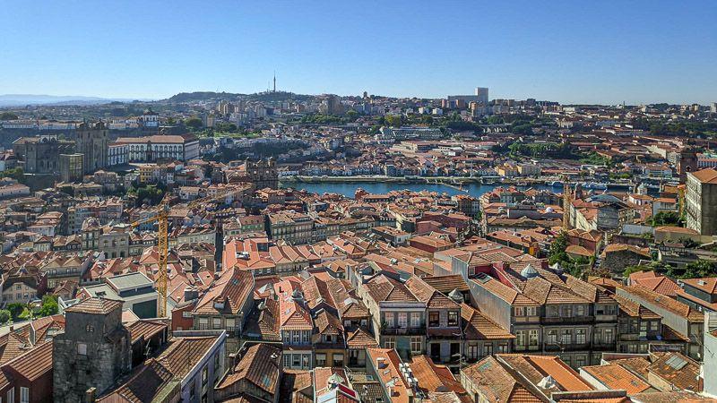 Miradores de Oporto: Torre de los Clérigos