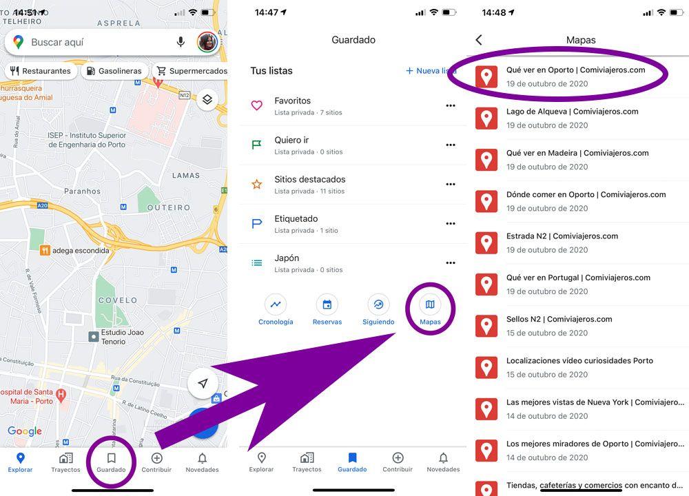 Cómo usar los mapas de Comiviajeros: encontrar el mapa en el móvil