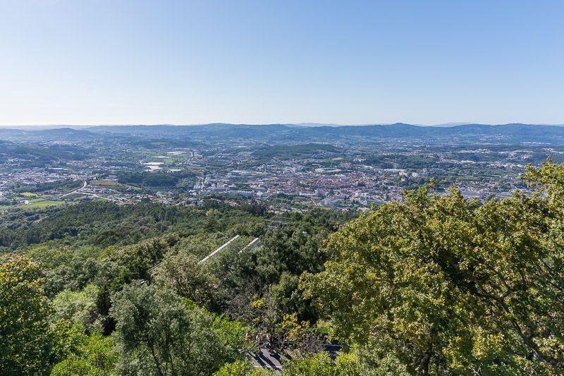 Qué ver en Guimaraes: vistas desde la montaña da Penha