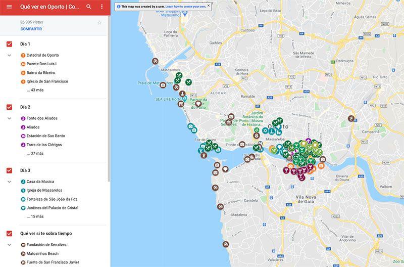 Cómo usar los mapas de Comiviajeros: mapa desde el ordenador