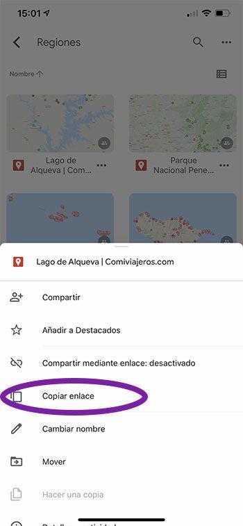 Cómo usar los mapas de Comiviajeros: abrir los mapas desde el navegador del móvil