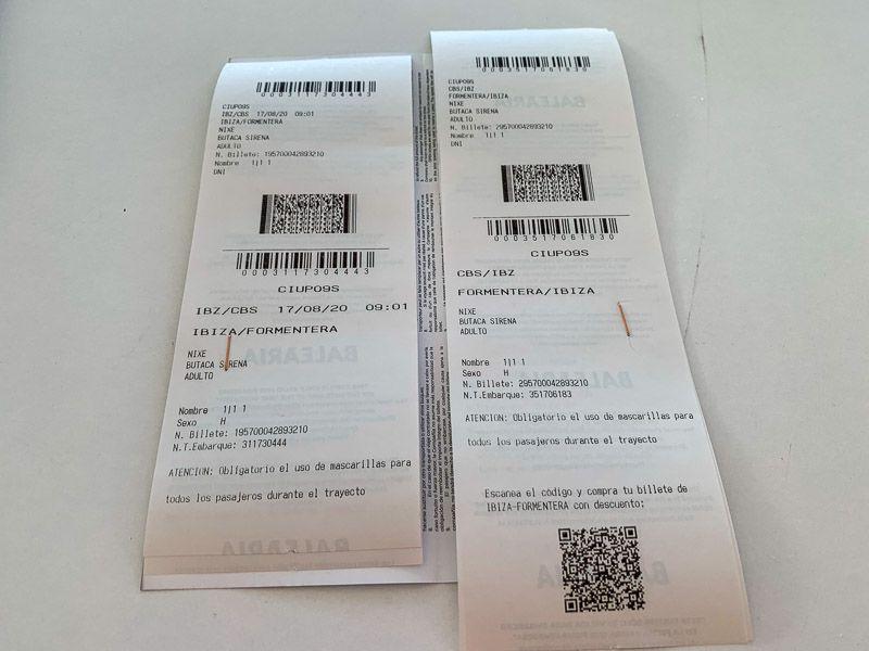 Cómo ir de Ibiza a Formentera BARATO y rápido: nuestros tickets de Balearia