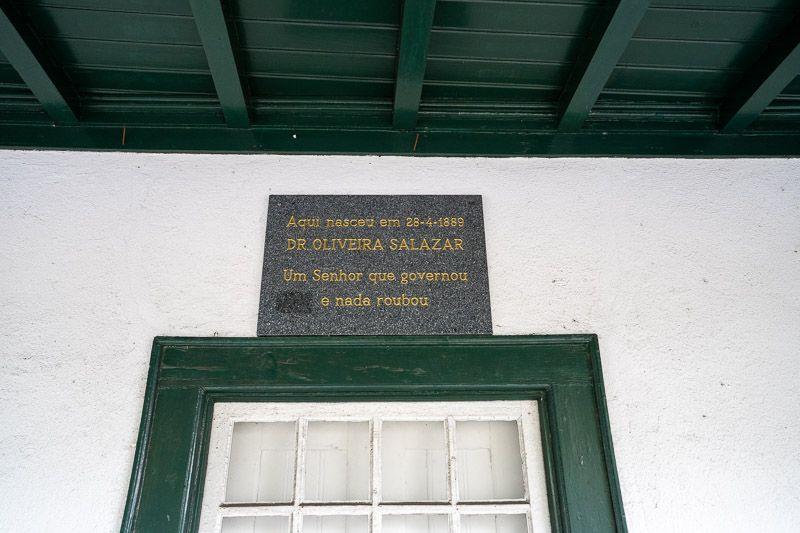 Etapa 3 de la ruta por la N2 entre Tondela y Serta: Casa de Salazar