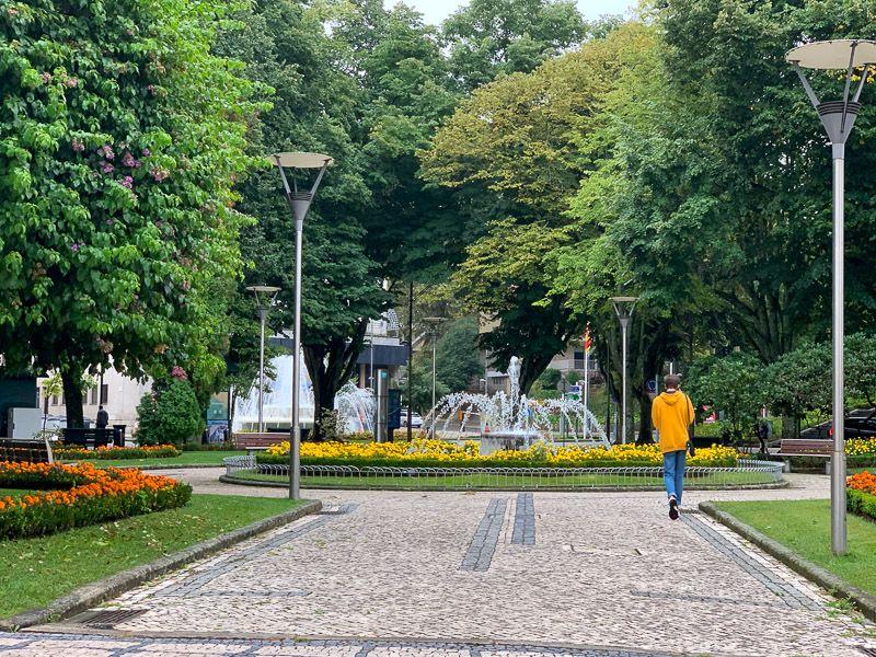 Qué ver en Viseu: parque en Viseu