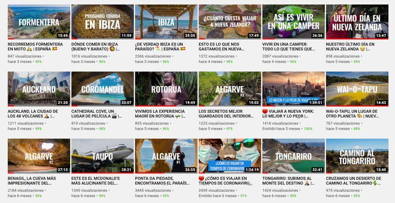 Comiviajeros en 2020: hemos subido 40 nuevos vídeos a Youtube