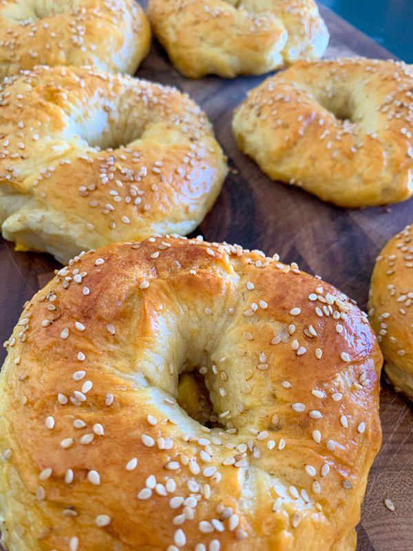 Receta de bagels: doraditos y recién salidos del horno... mmmm