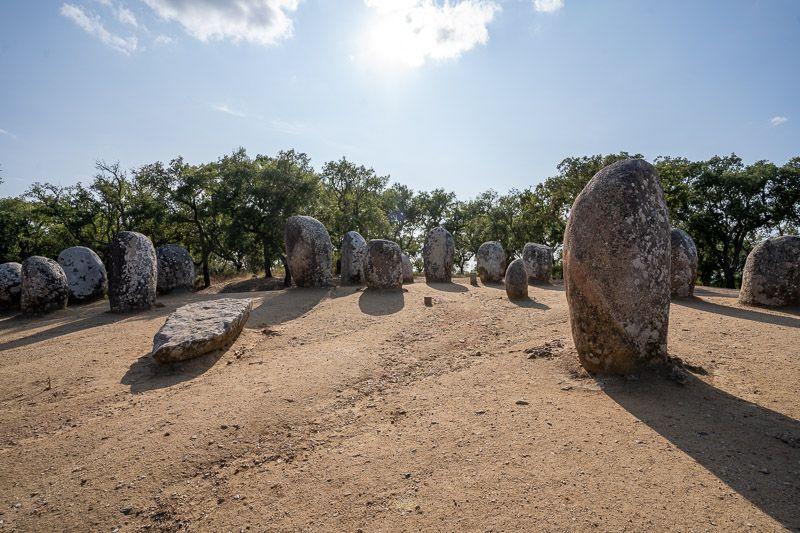 Etapa 4 de la ruta por la N2 entre Serta y Ferreira do Alentejo: Cromeleque dos Almendres