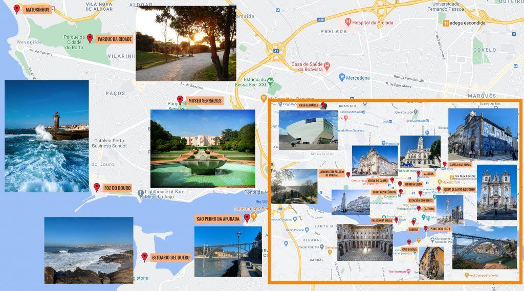 Nuestro mapa de Oporto
