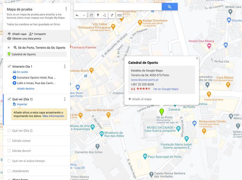 Tutorial de Google My Maps: añadir y editar puntos de interés