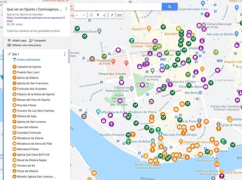 Crear mapas con Google My Maps: mapa terminado