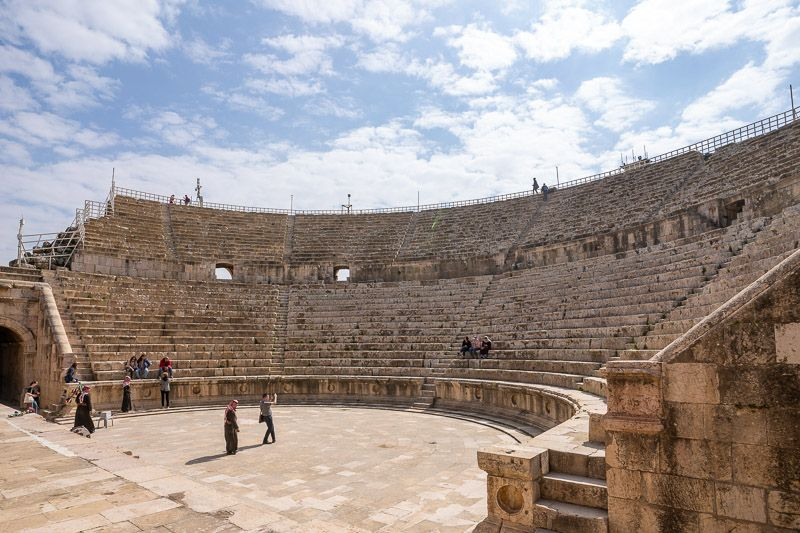 Visitar Jerash: Teatro Sur