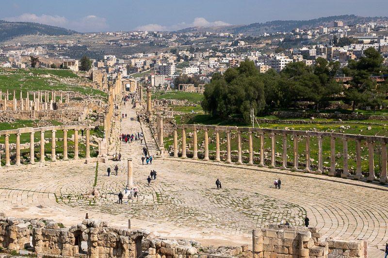 Visitar Jerash: vistas desde el Templo de Zeus
