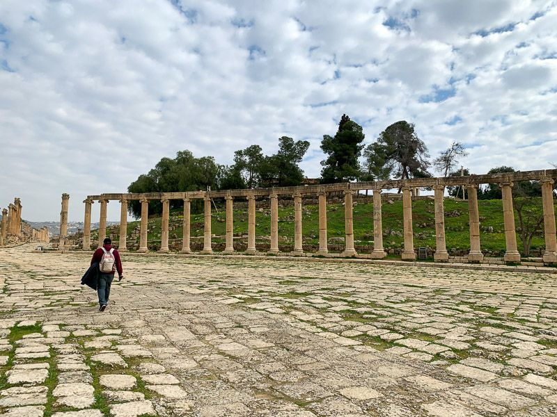 Visitar Jerash: Plaza Oval